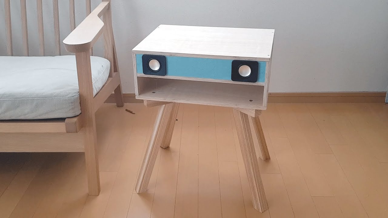 Side Table Speaker DIY (Back Loaded Horn Speakers)