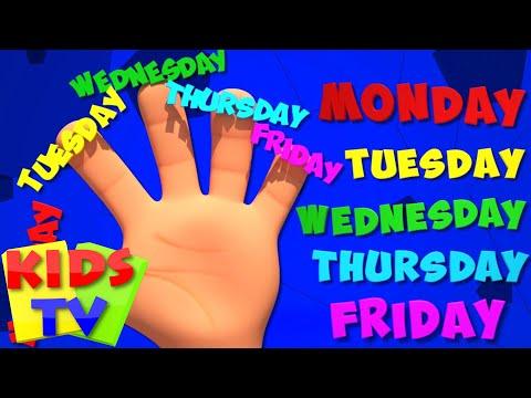 Weekday Finger Family | 3D Baby Songs | Nursery Rhymes