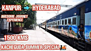 Kanpur to Hyderabad Awesome Rail Journey || Window View || Indian Railways ||