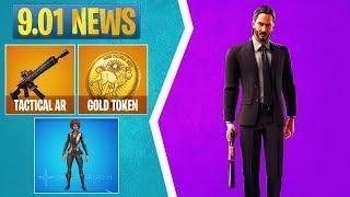 Fortnite 9.01 News: John Wick Skin, Sophia Skin, Gold Token, Tactical Assault Rifle, & More
