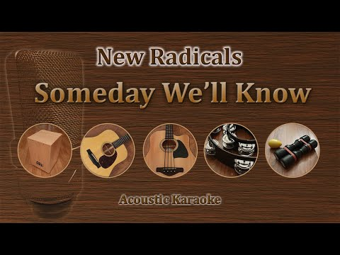Someday Well Know  New Radicals Acoustic Karaoke