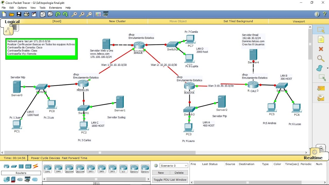 ccna packet tracer final