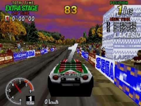 Sega Saturn - Sega Rally Gameplay with Lancia Stratos