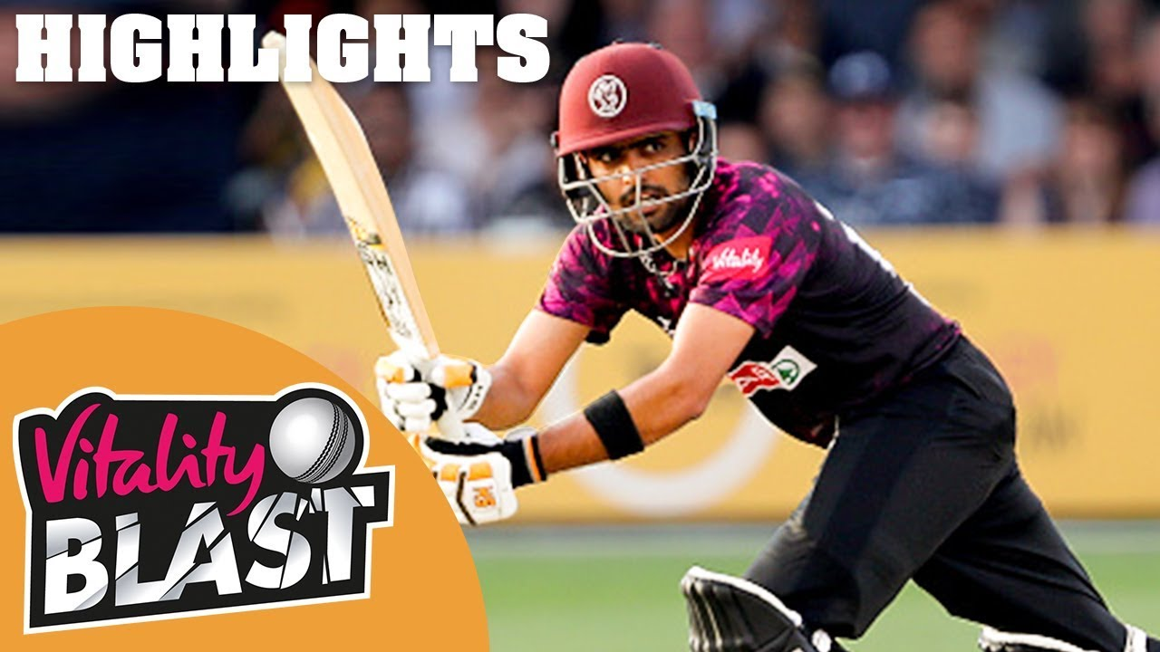 Somerset v Glamorgan | Babar Azam Half-Century Sees Somerset Home | Vitality Blast 2019 - Highlights