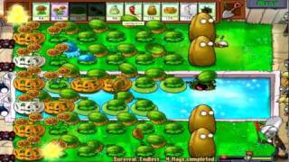 Plants Vs. Zombies Part 47: Survival Endless Flags 5-8