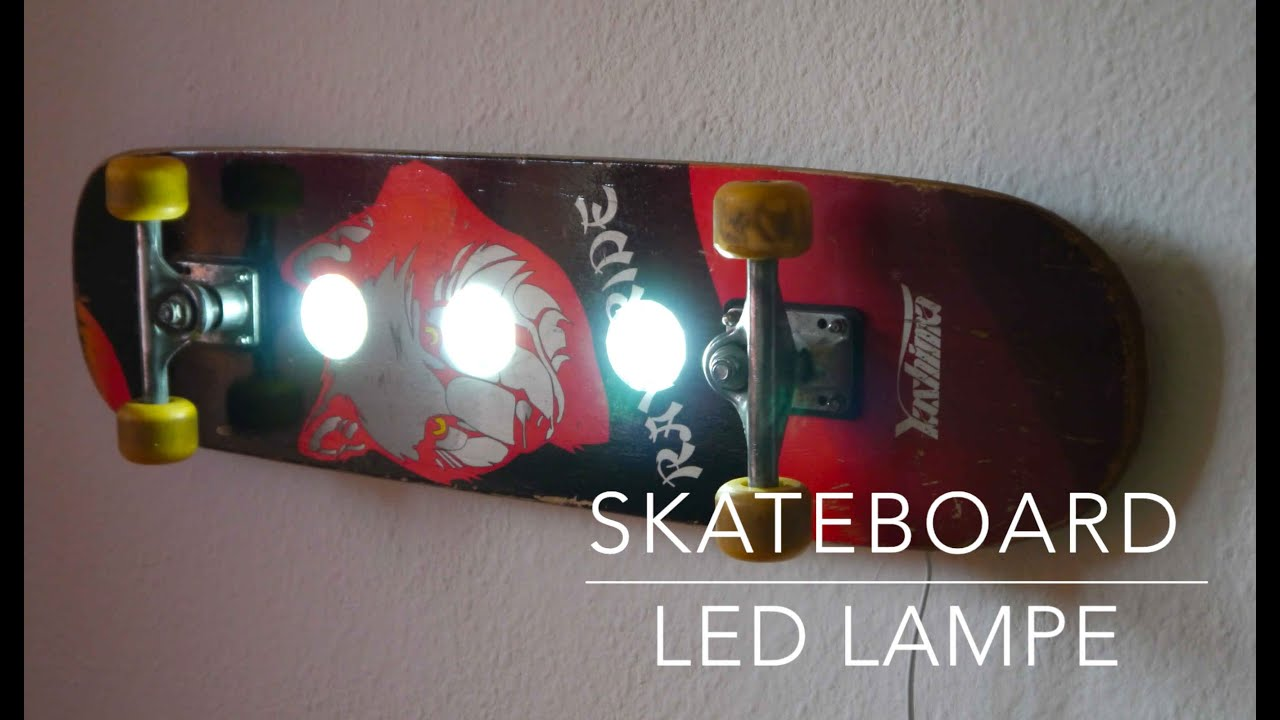 skateboard led lampe selber bauen anleitung youtube. Black Bedroom Furniture Sets. Home Design Ideas