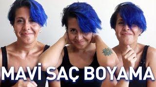 Renkli Saç Boyama | Mavi Saç | Blue Hair Dye