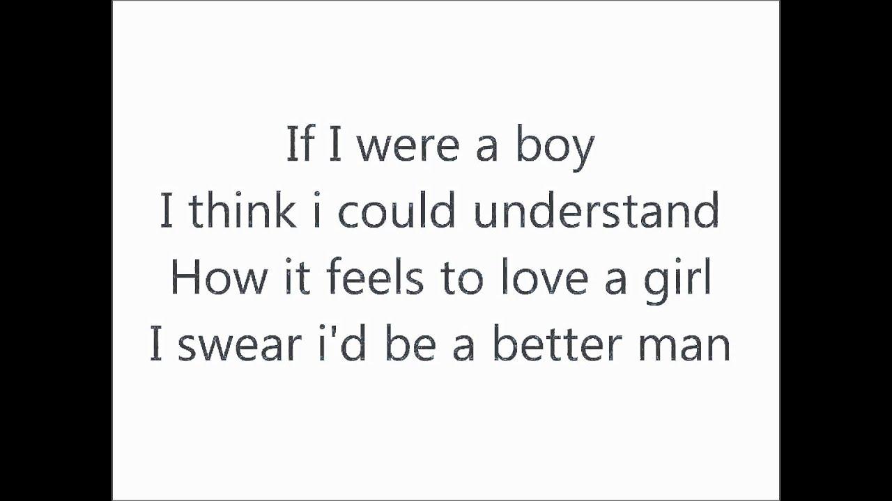 Songtext von Beyoncé - If I Were a Boy Lyrics