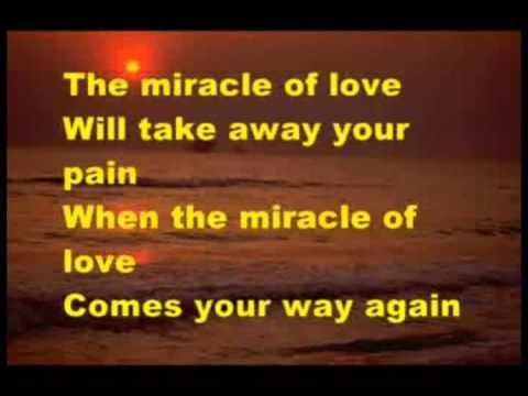 THE MIRACLE OF LOVE   EURYTMICS karaoke