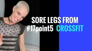 How to go to the toilet with sore legs from Crossfit #17point5 wod!