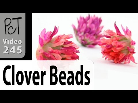 Red Clover Polymer Clay Flowers Tutorial (Intro Vol-046-1)