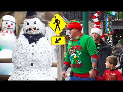 Scary Snowman Pranks Gatlinburg TN S8 E5
