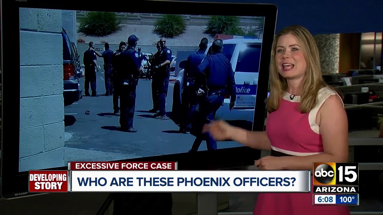 Who are the officers in the Phoenix police excessive force case?