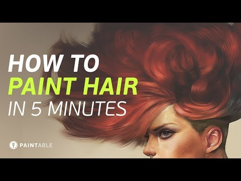 How to Paint Realistic Hair (In Just 5...