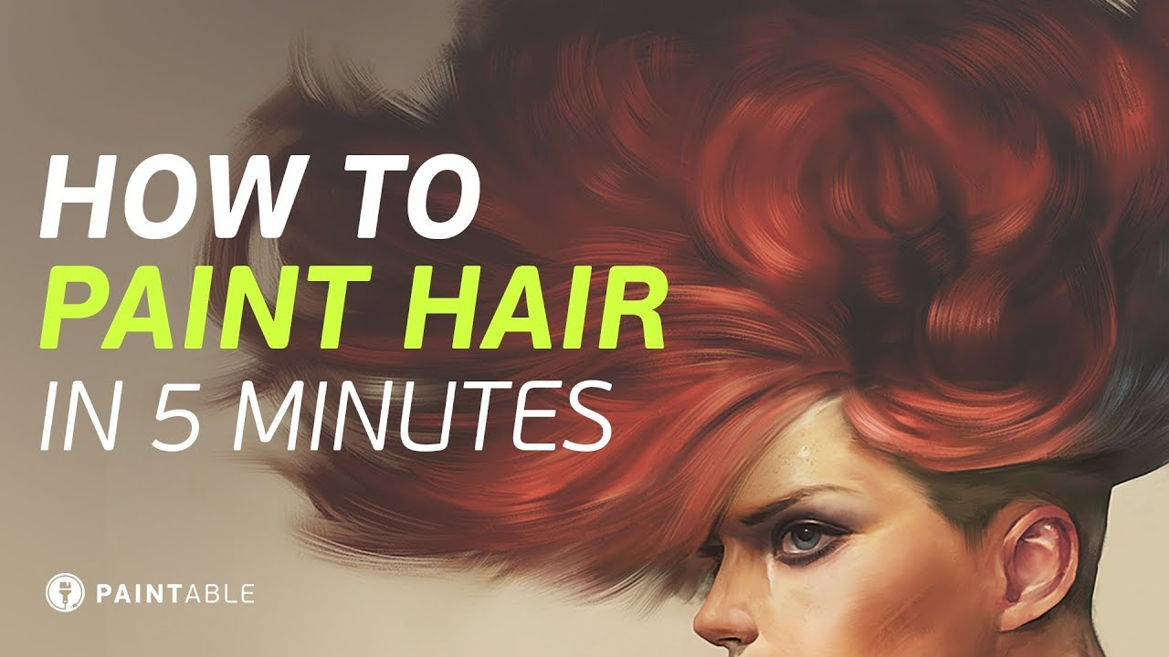 How to Paint Realistic Hair In Just 5 Minutes  YouTube