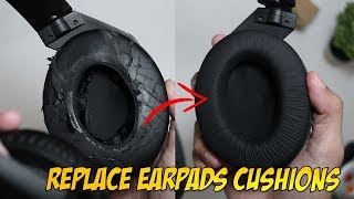 how to Change or Replace Earpads Cushions on Sennheiser Headphones and Others