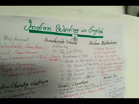 Indian writing in English(1)