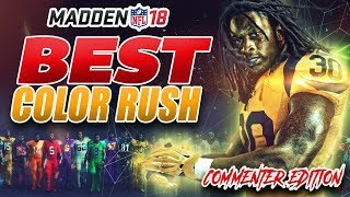 Madden NFL Best Color Rush Jerseys - Commenter Edition!
