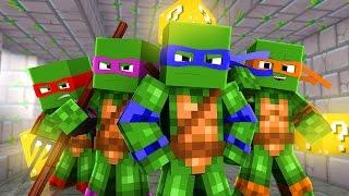 Minecraft - VIRAMOS TARTARUGAS NINJAS ‹ ESCOLHA A PORTA › MINI-GAME (LUCKY BLOCK)
