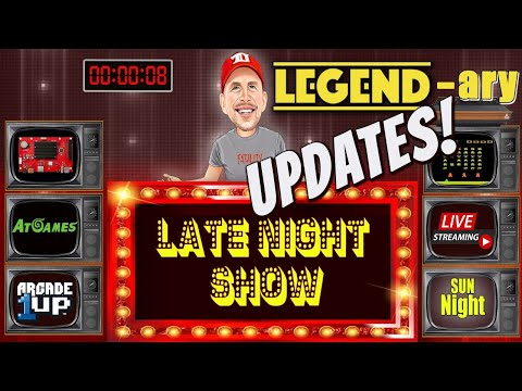"LATE NIGHT REXERSHOW! ""LEGEND""-ary Updates!! Arcade 1up/Atgames & More from therexershow"