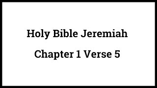 Holy Bible Jere