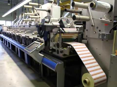 Flexo Label Printing Press GALLUS RCS 330 year 2001 only 24 Million meters.