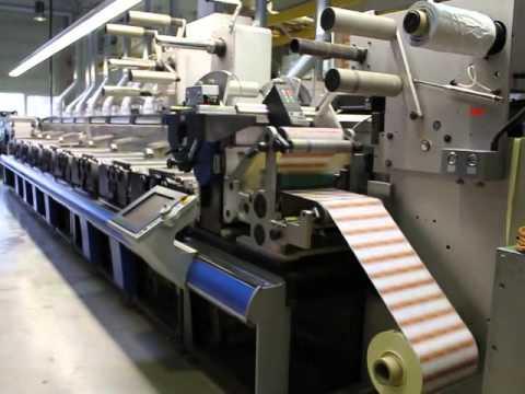 Flexo Label Printing Press GALLUS RCS 330 year 2001 only 24 Million meters.