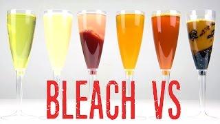 Bleach VS Coca Cola Experiment