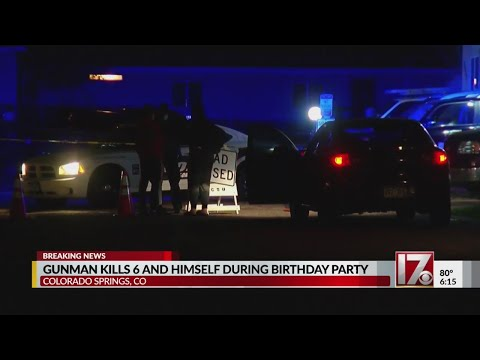 6 victims and gunman dead after birthday party shooting in Colorado