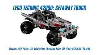 LEGO Technic 42090: Getaway Truck In-depth Review, Speed Build & Parts List [4K]