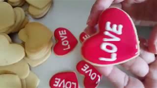 Easy Valentine Cookie Just 30 seconds. /คุกกี้วาเลนไทน์ทำง่ายมาก แค่ 30 วิก็เสร็จแล้ว