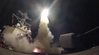 US fire tomahawk missiles at Syrian air base