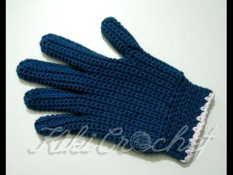 Crochet Gloves with Fingers (part1 )