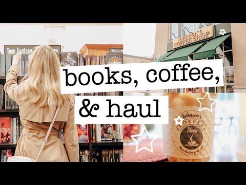 Bookstore Vlog: Shopping, Book Haul, & Cozy Coffee Shop