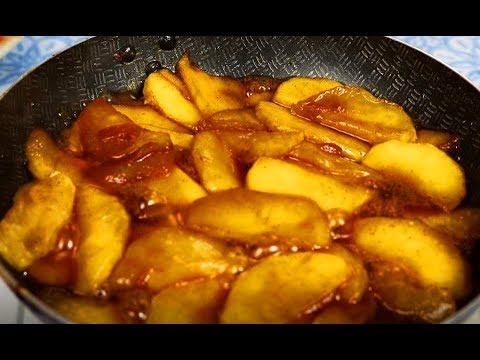 Как карамелезировать яблоки для пирожков, блинчиков, пирогов. Карамелезованные яблоки