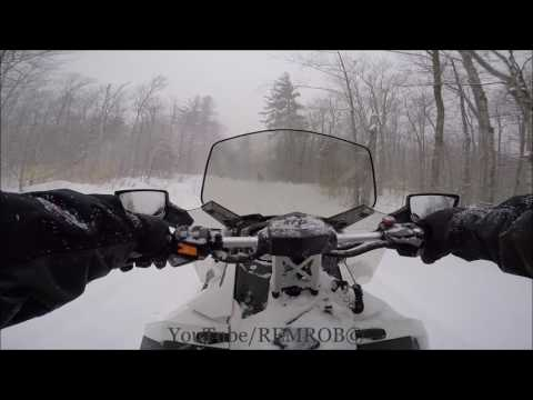 Snowmobiling In Nor'easter Stella!!