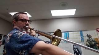 trombone 7th position b