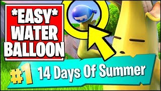 HIT A PLAYER MIT EINEM WASSER BALLON IN DIFFERENT MATCHES *EASY* (Fortnite 14 Tage Sommer REWARDS)