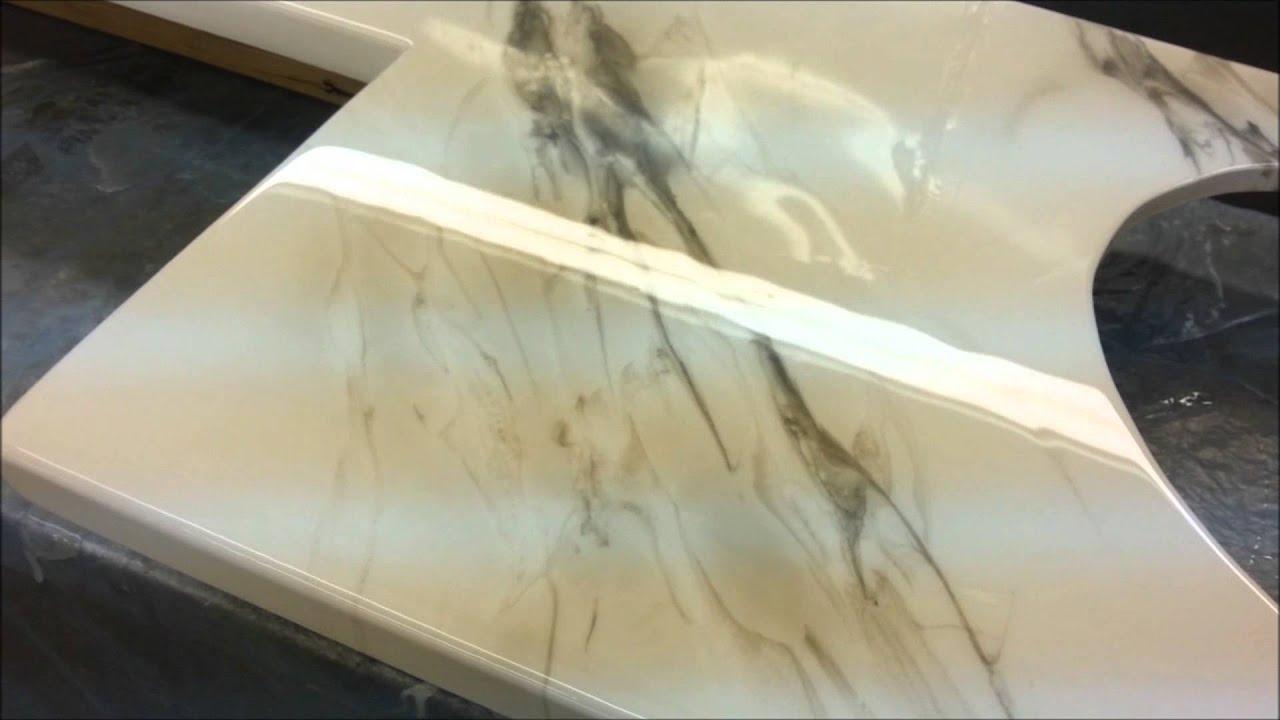 comptoirs epoxy countertop - YouTube