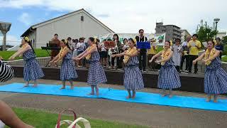 東郷町エコばんぱくにおいて、フラダンスあいち池をご披露させていただ...