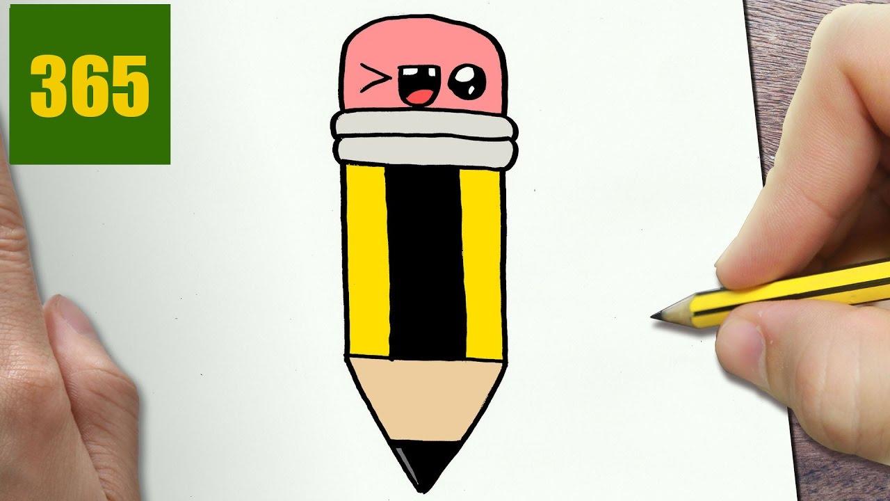 Come disegnare matita di grafite kawaii passo dopo passo for Disegni da copiare a matita