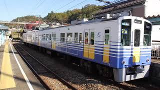 えちぜん鉄道 MC-7000形 松岡駅発車
