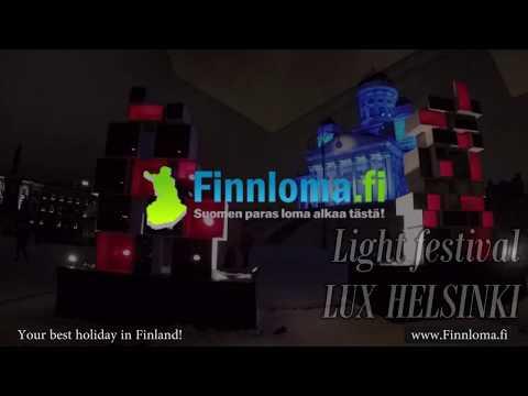 Light festival LUX Helsinki Finland -  Finnloma fi