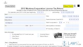 Form CLT 4S Montana S Corporation Information and Composite Tax Return