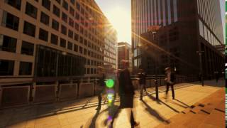 commuters walking in the city business building background r4xkt3c  D1