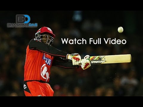 Chris Gayle Storm Equals Yuvraj's Record 50 of 12 Balls