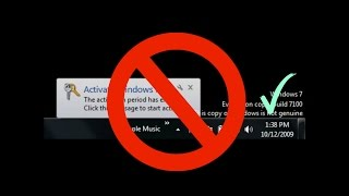 how to remove windows 7 not genuine build 7600 7601 fix tutorial working