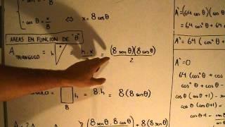 Ejercicio 5: Optimizar el área de un trapecio.