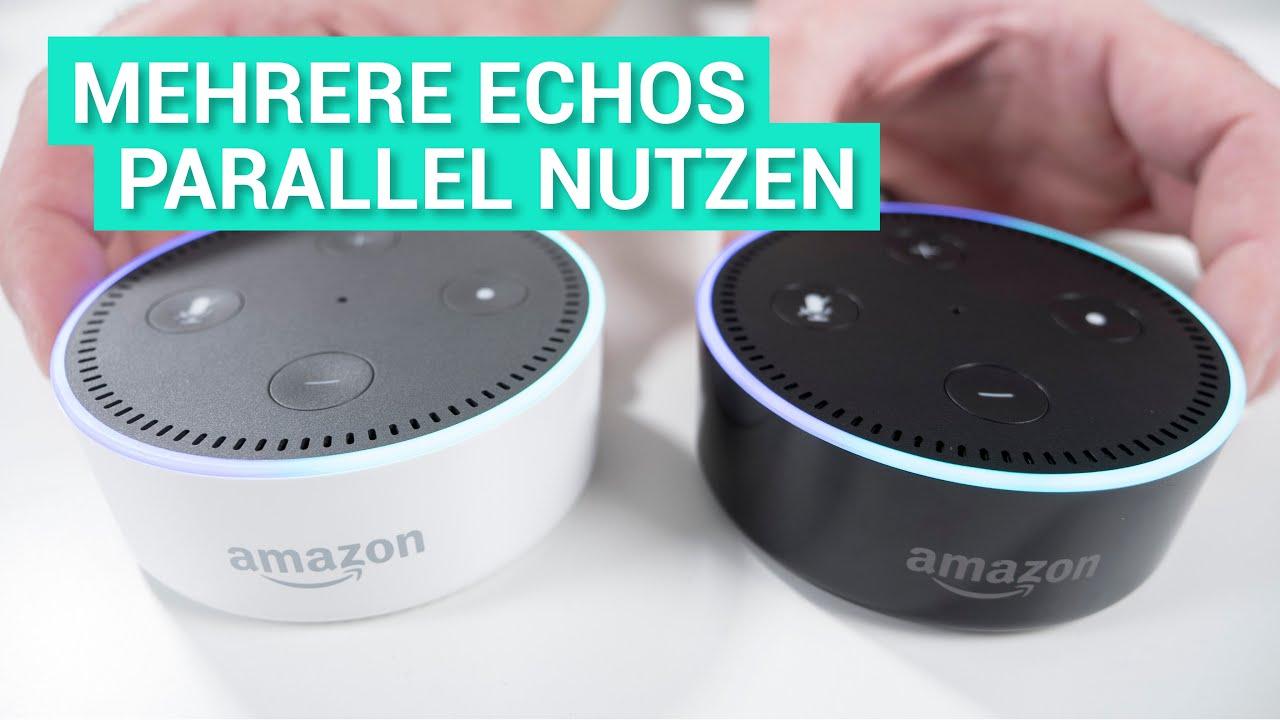 Mehrere Zwei Amazon Echo Dot Alexa Parallel In Betrieb Youtube