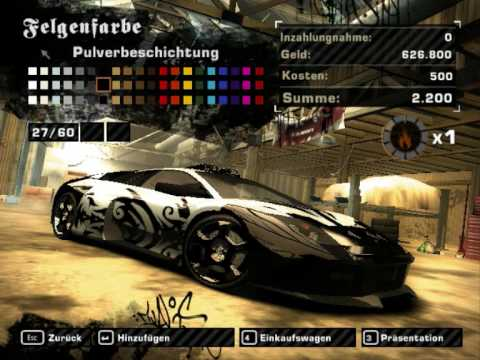 Nfsmw Lamborghini Murcielago Tuning Youtube